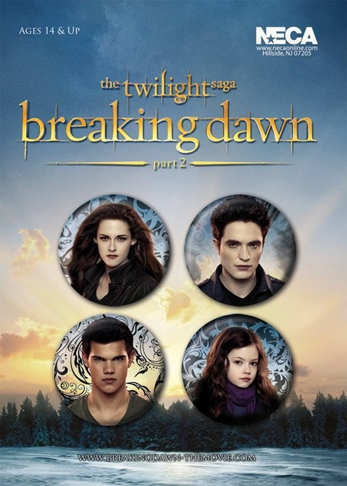 TWILIGHT BREAKING DAWN 2 Badge Pack