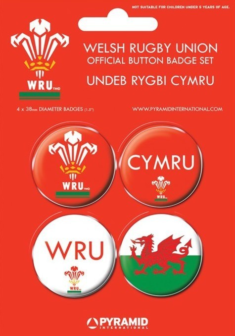 WELSH RUGBY UNION Badge Pack