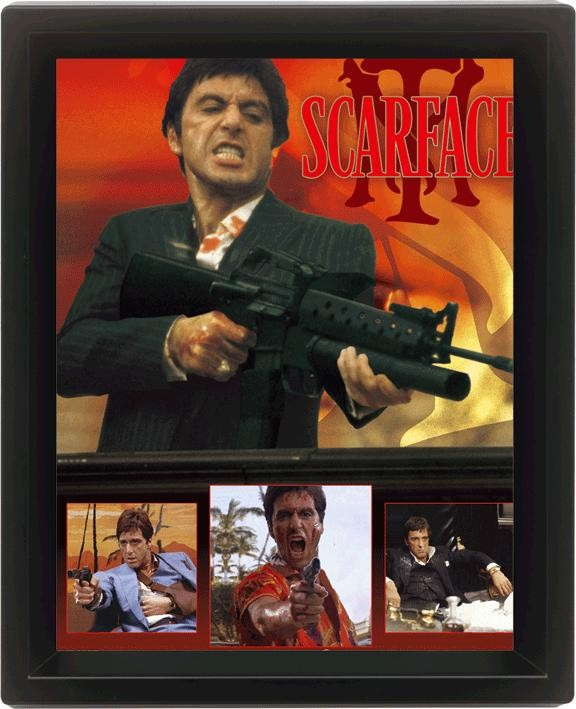 scarface framed 3dposter sale at europosters
