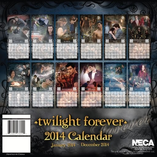 Calendar 2014 Twilight Forever Calendars 2018 On