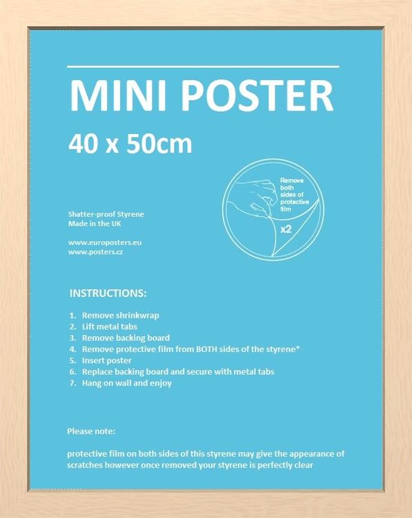 CadreCadre - Mini Affiche 40x50cm Aggloméré hêtre