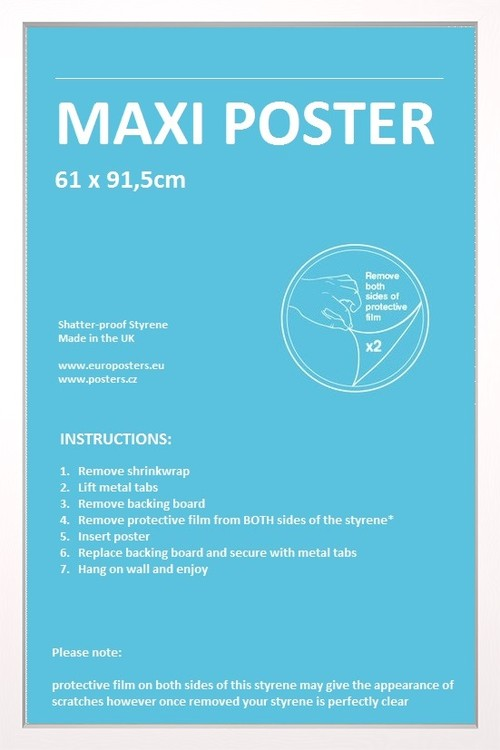 Frame - Poster 61x91,5cm White Fibreboard