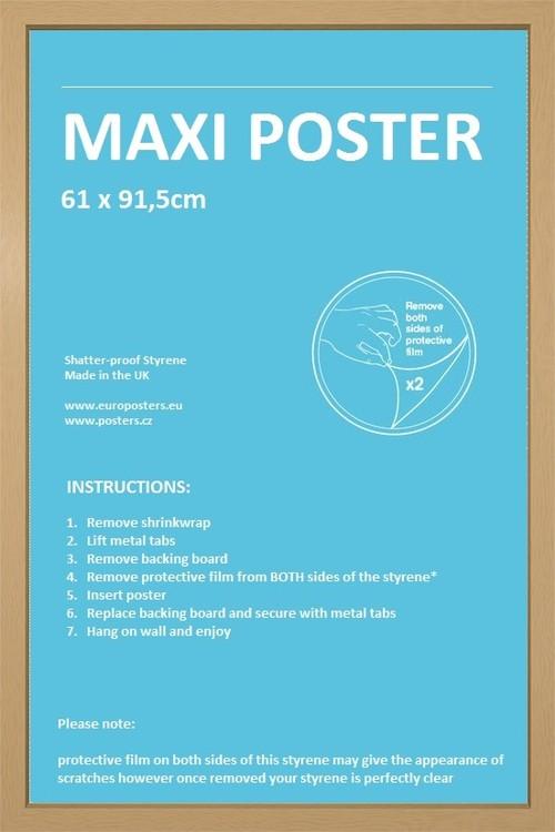 Frame - Poster 61x91,5cm Oak Fibreboard