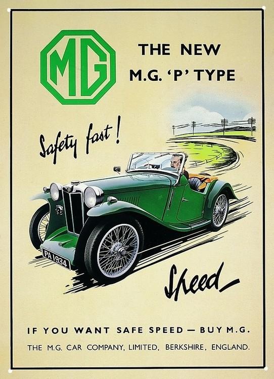1934 MGP Plaque métal décorée