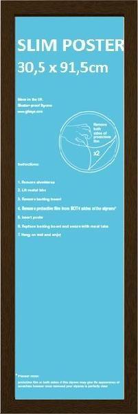 Frame - Slim poster 30,5x91,5cm Walnut Fibreboard