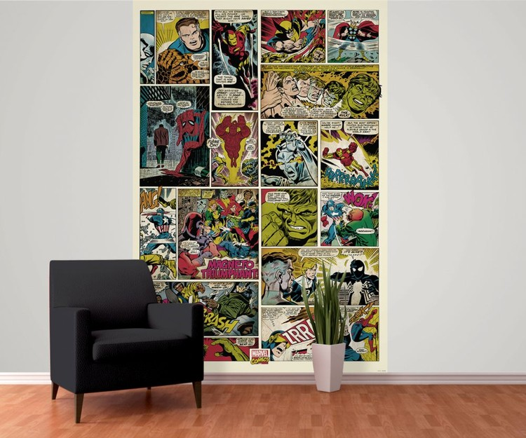 Marvel Wall Mural avengers comic - marvel wall mural | buy at europosters