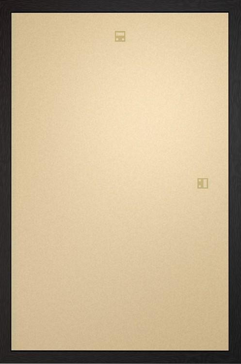 Frame - Art poster 60x80cm Black Fibreboard