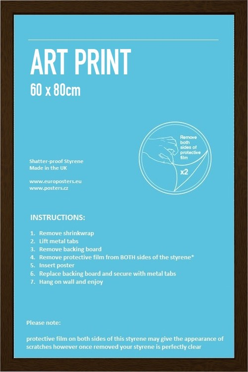Frame - Art poster 60x80cm Walnut Fibreboard