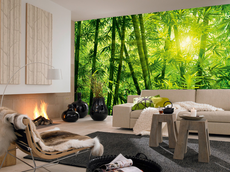 Bamboo forest wall mural buy at europosters for Bamboo forest mural