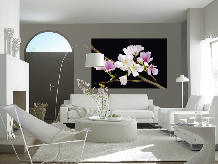 Cherry blossoms wall mural buy at europosters for Cherry blossom wallpaper mural