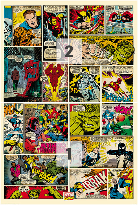 Avengers comic marvel wall mural buy at for Avengers mural poster