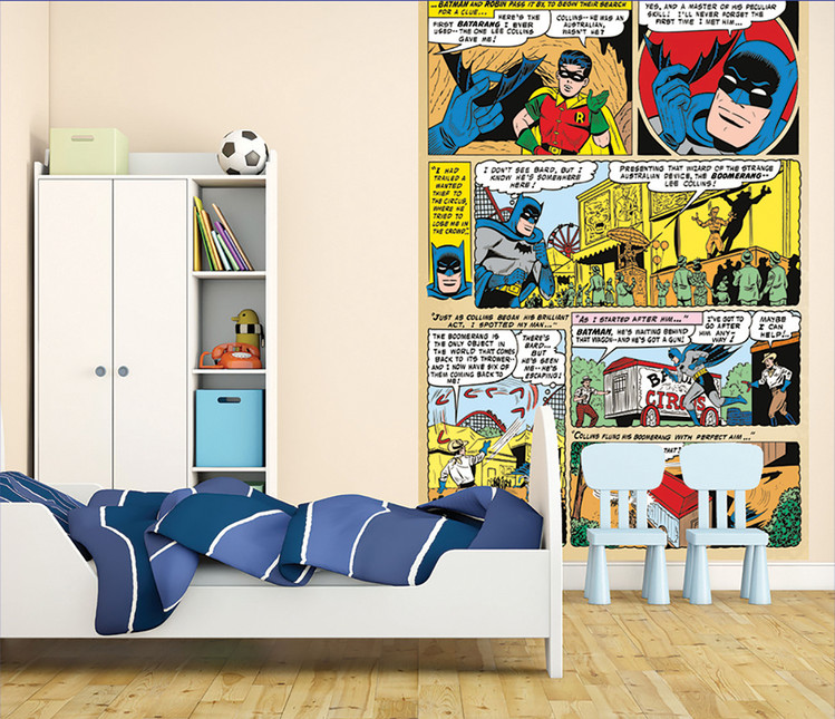 batman and robin comic wall mural buy at europosters marvel comics and avengers wallpaper wall murals d 201 cor