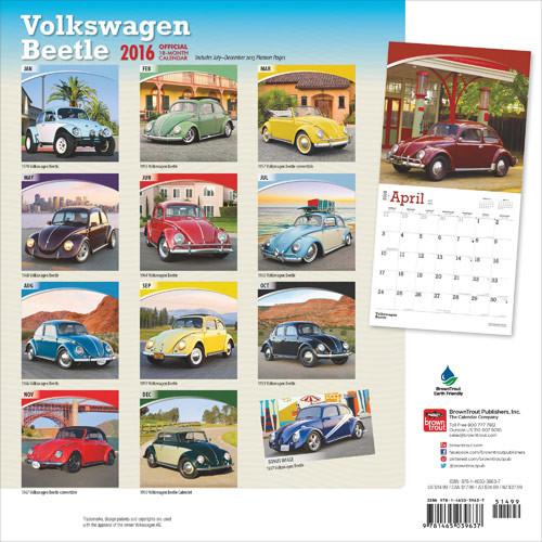 Calendar 2018 VW CAMPERS-Wall Calendar-Calendar for men-Salmon
