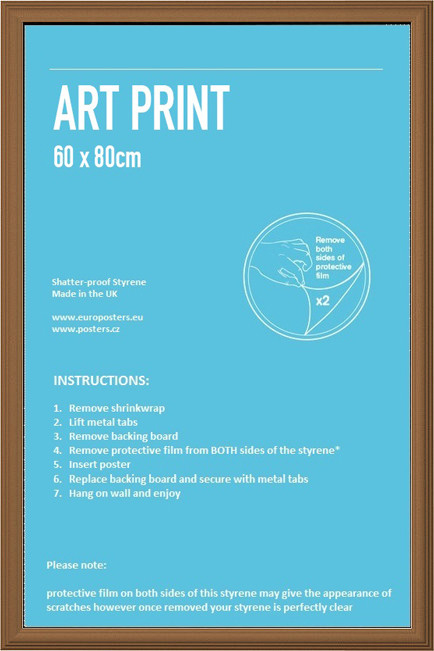 Frame - Art poster 60x80cm Pine Fibreboard