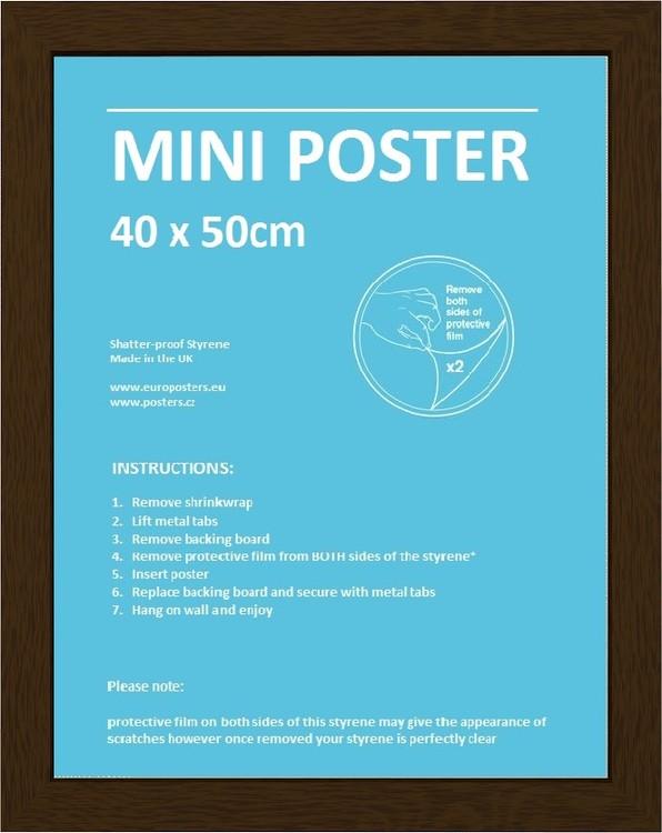 Frame - Mini poster 40x50 cm Walnut Fibreboard