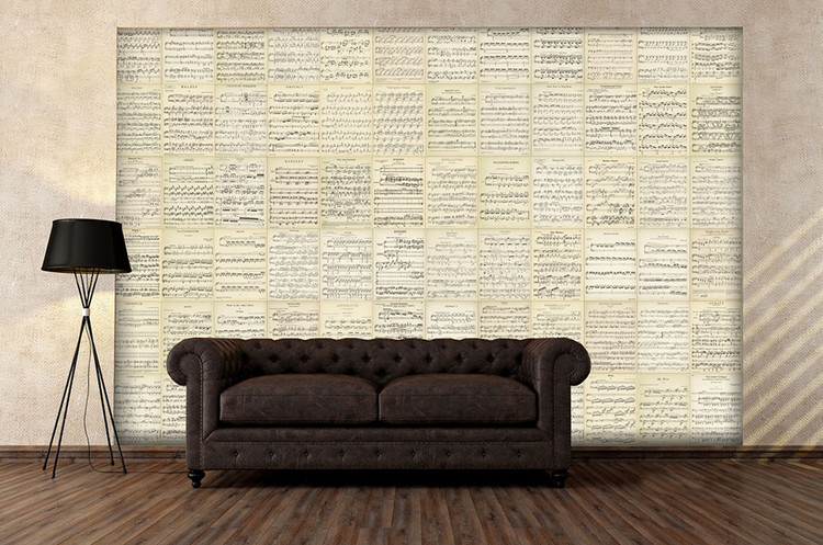 Music Music Notes Wall Mural Buy At Europosters