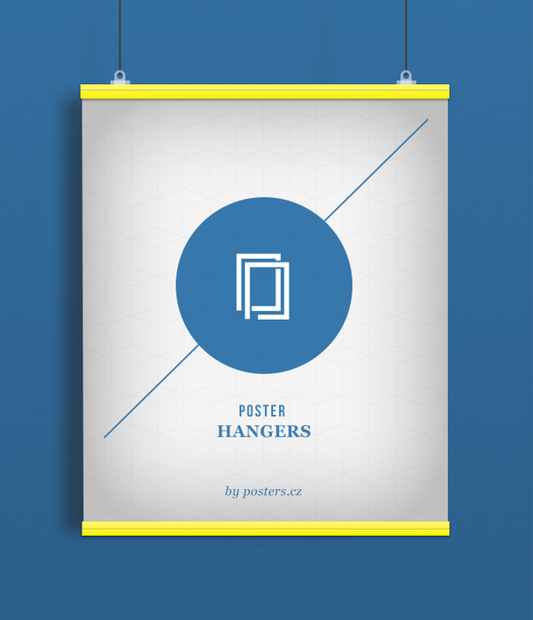 POSTER HANGERS 2 pieces Length: 91,5 cm yellow
