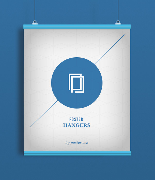 POSTER HANGERS 2 pieces Length: 91,5 cm blue