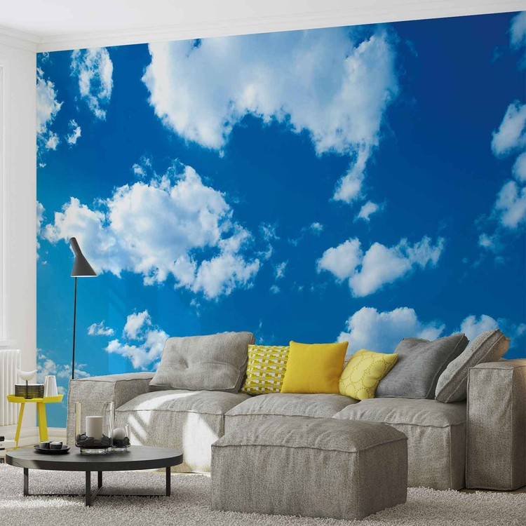 Clouds sky nature wall paper mural buy at europosters for Cloud wall mural