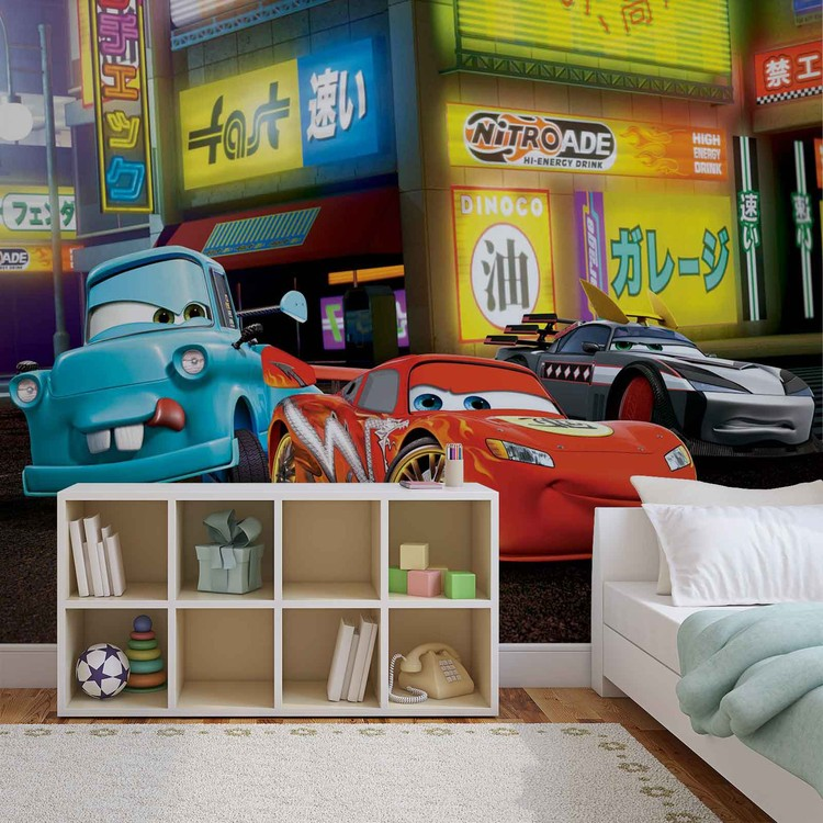Disney Cars Lightning McQueen Wallpaper Mural. Facebook Google Pinterest.  Original Price: Part 33