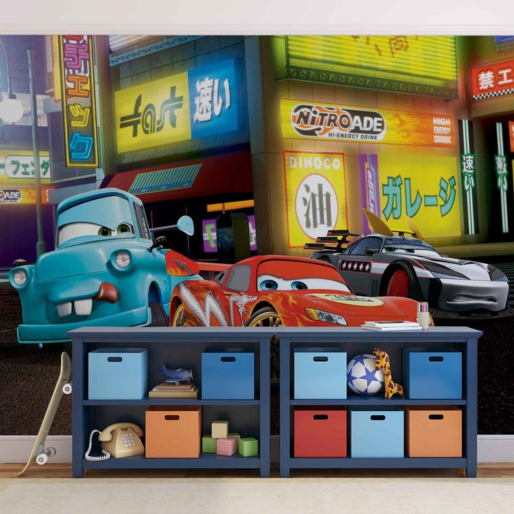 Disney cars lightning mcqueen wall paper mural buy at for Disney cars wall mural uk