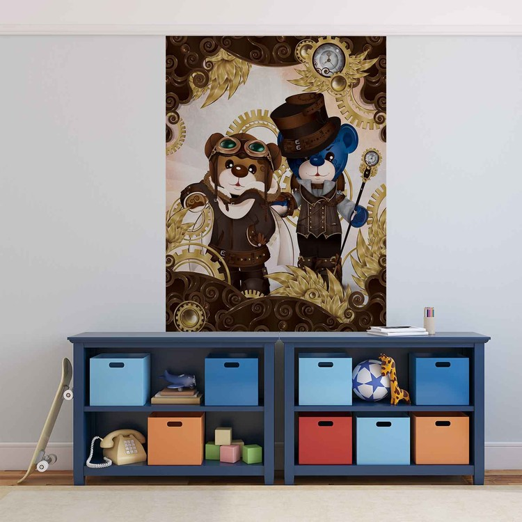 Rainbow bears care bears wall paper mural buy at for Care bears wall mural