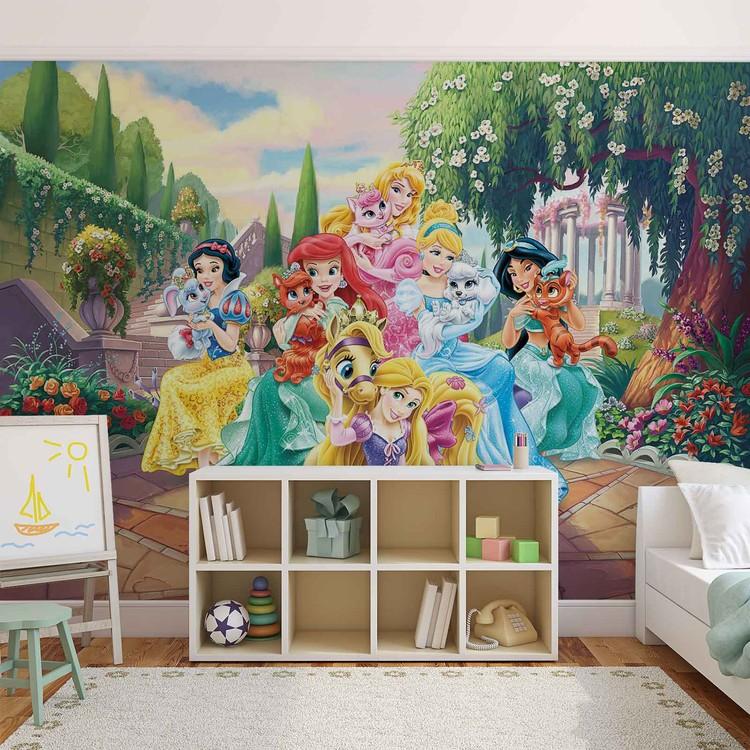 Disney princesses rapunzel ariel wall paper mural buy at for Disney princess wallpaper mural uk