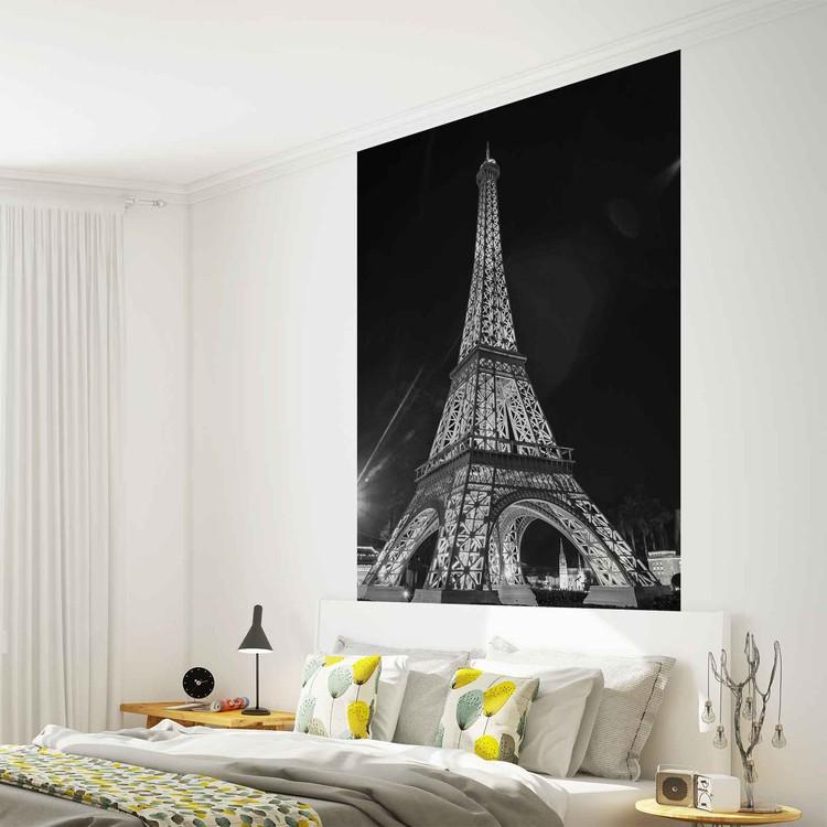 Paris eiffel tower wall paper mural buy at europosters for Eiffel tower wallpaper mural