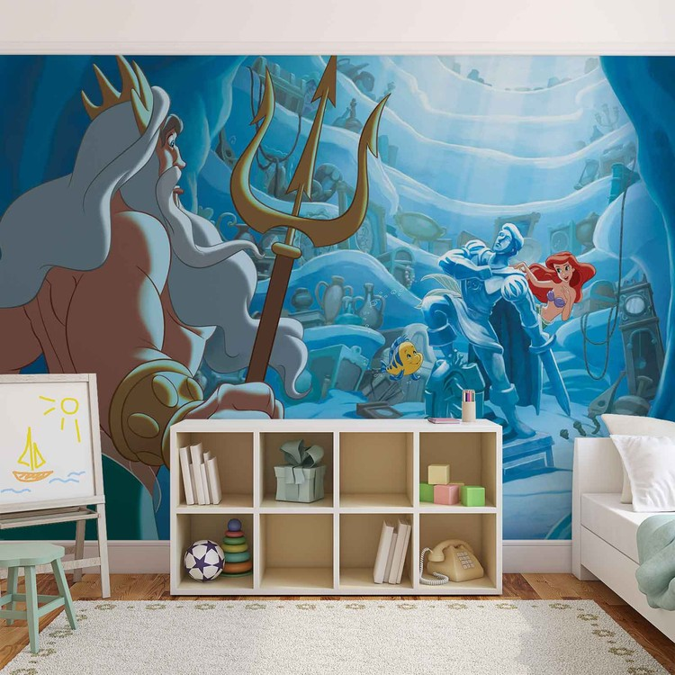 Disney little mermaid wall paper mural buy at europosters for Disney ariel wall mural