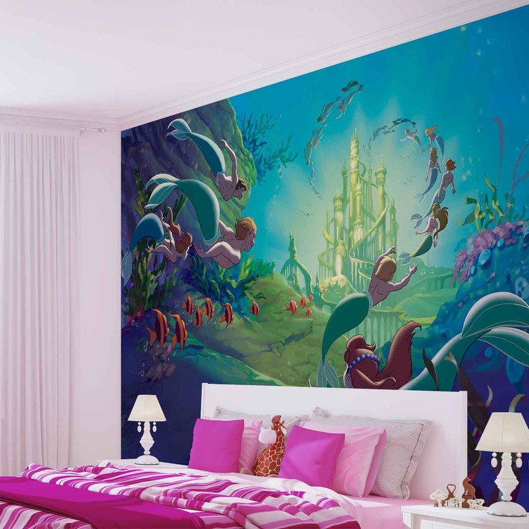 Disney Little Mermaid Wallpaper Mural. Facebook Google Pinterest. Original  Price: Part 45
