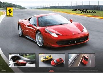 3D Julisteet  Ferrari 458 Italia