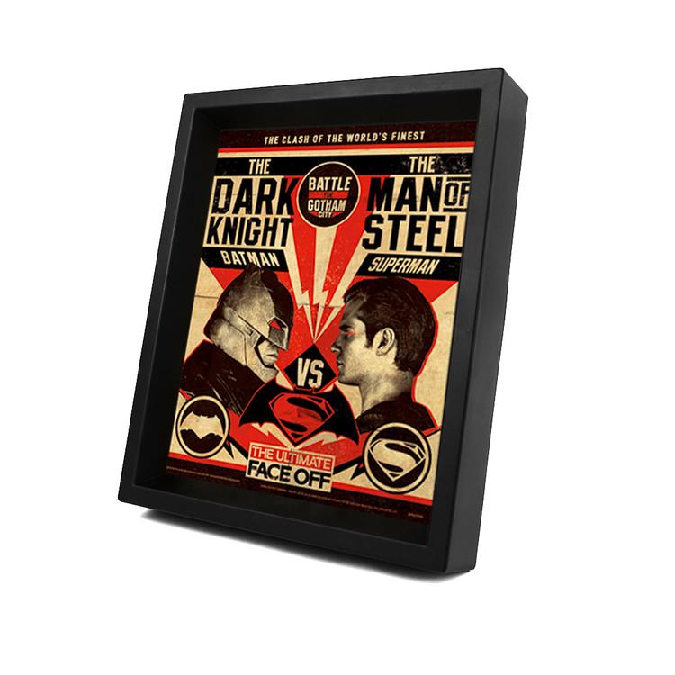 Batman V Superman - Fight Poster 3D kehystetty juliste