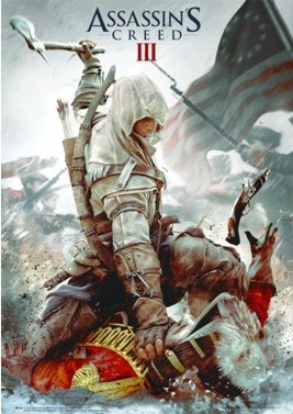 3D poster  Assassin's Creed III. - cover