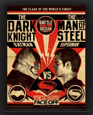 3D Poster Batman V Superman - Fight Poster