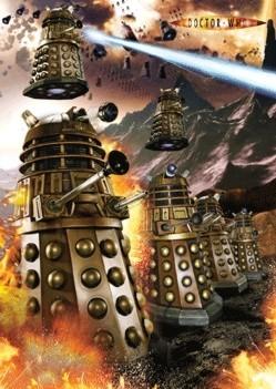 3D poster DOCTOR WHO - dalek war