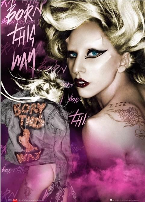 3D poster Lady Gaga