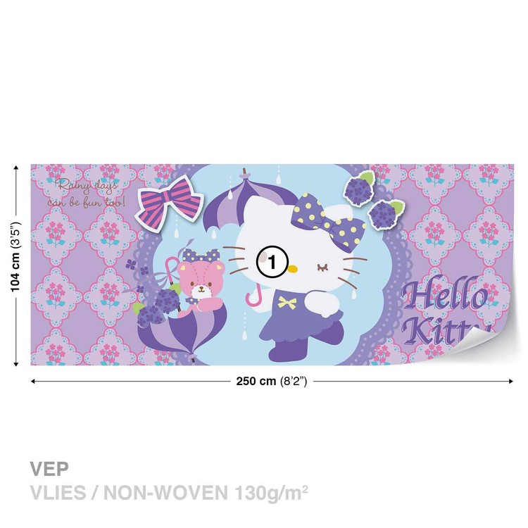 Hello Kitty Wallpaper Mural · Facebook Google Pinterest. Price From: Part 78