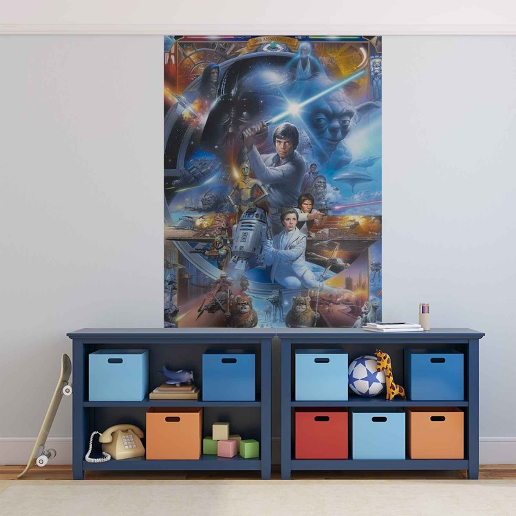 star wars wall paper mural buy at europosters. Black Bedroom Furniture Sets. Home Design Ideas