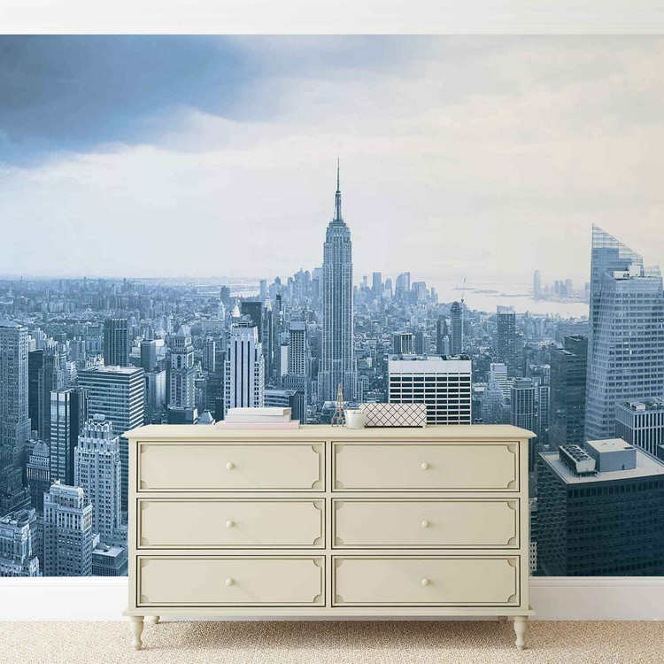 New york city empire state building wall paper mural buy for Empire state building mural