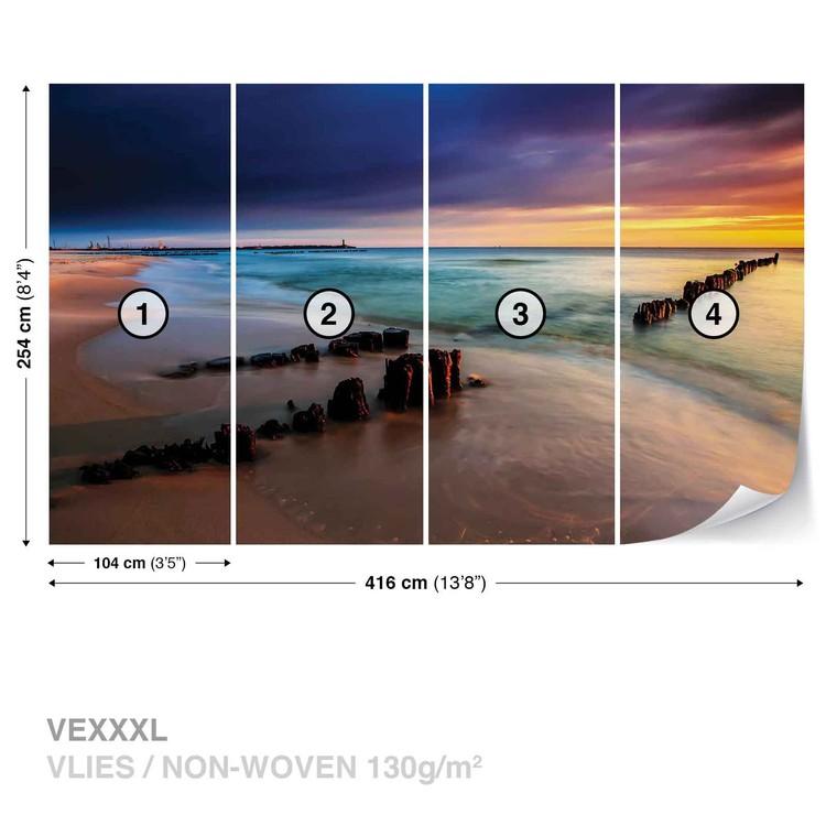 Beach Scene Wallpaper Mural · Facebook Google Pinterest. Price From: