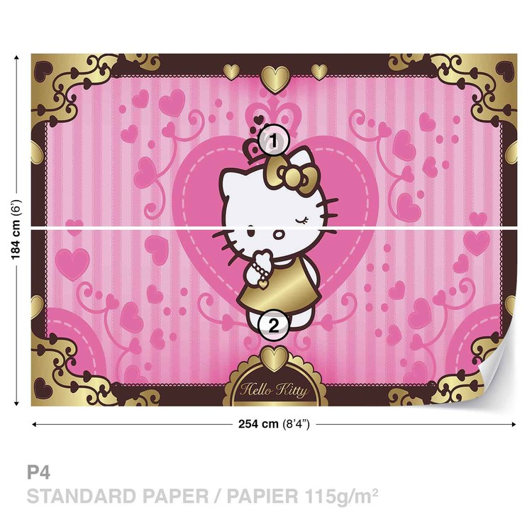 Hello Kitty Wallpaper Mural · Facebook Google Pinterest. Price From: Part 89