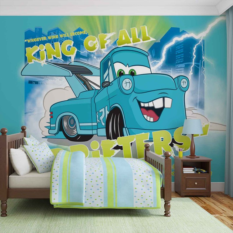 Disney cars wall paper mural buy at europosters for Disney cars wallpaper mural
