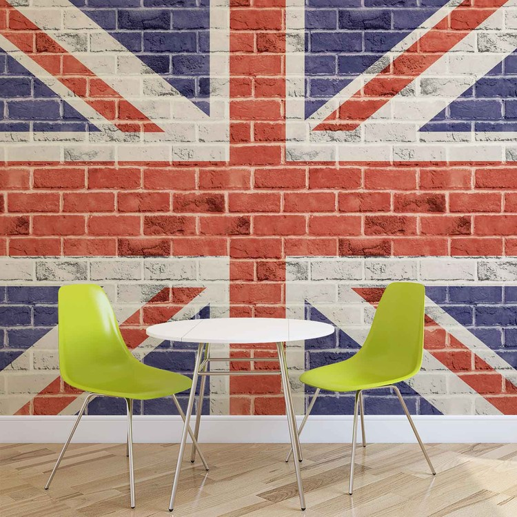 brick wall union jack wall mural for your home buy at wall murals british union jack flag pixersize com