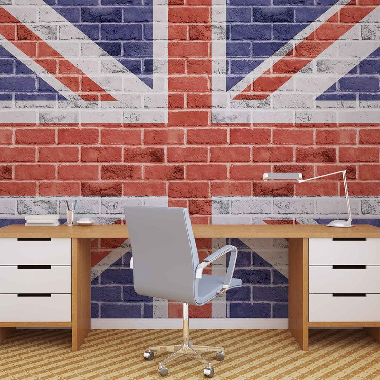 brick wall union jack wall mural for your home buy at brick wall union jack flag wallpaper mural ebay