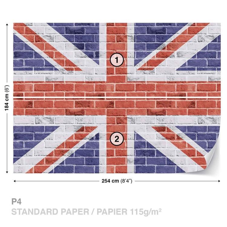 Brick Wall Union Jack Wallpaper Mural · Facebook Google Pinterest. Price: