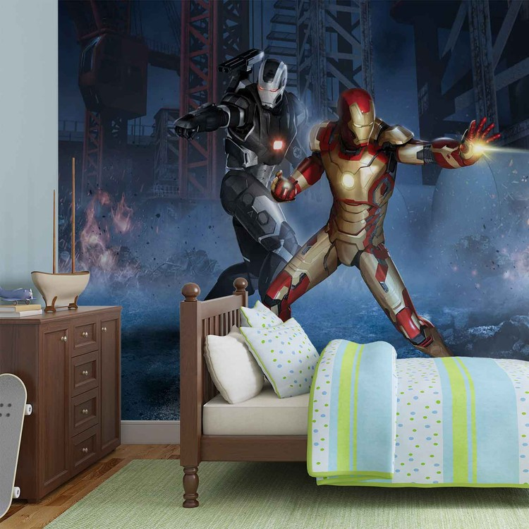 Iron Man Marvel Avengers Wallpaper Mural. Facebook Google Pinterest.  Original Price: Part 46