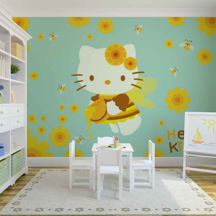 hello kitty wall mural for your home buy at europosters hello kitty wall mural for your home buy at europosters