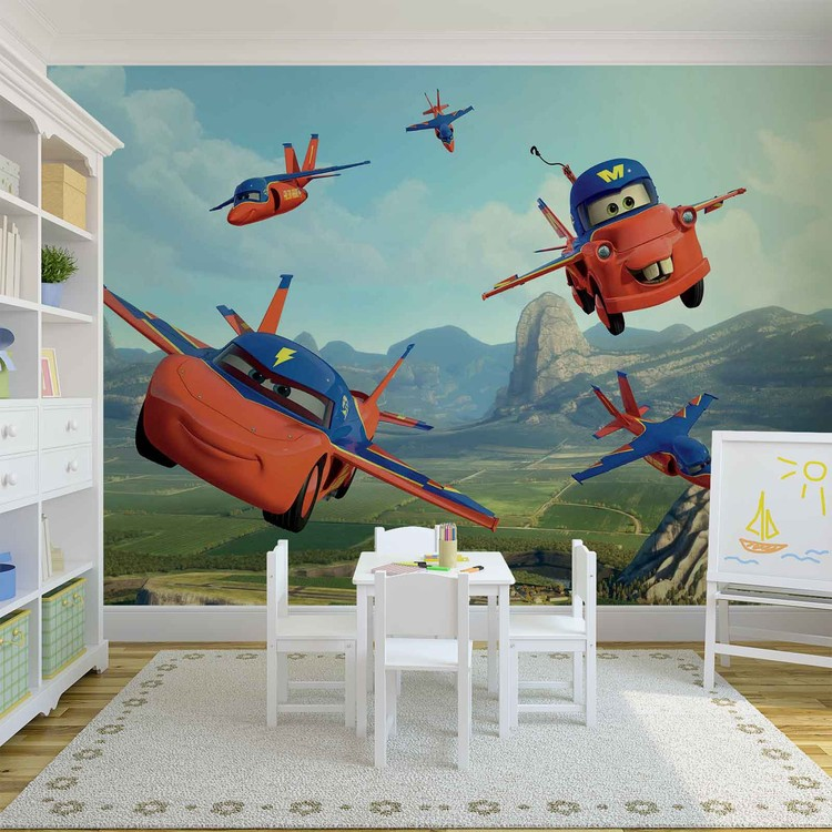 Disney cars planes air mater wall paper mural buy at for Disney planes wall mural