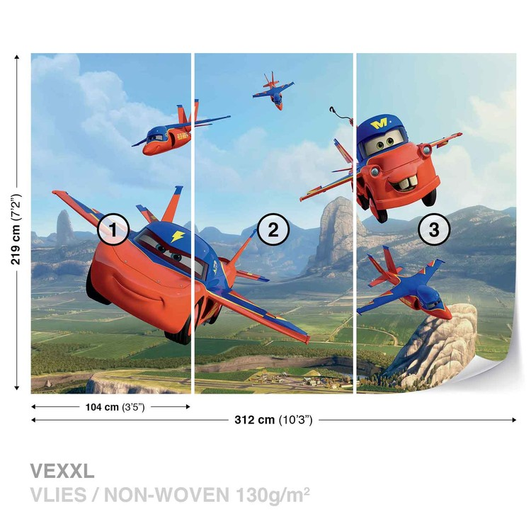 Disney cars planes air mater wall paper mural buy at for Disney planes wallpaper mural
