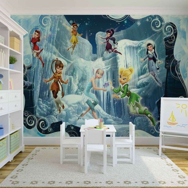 Disney fairies tinker bell periwinkle wall paper mural for Disney fairies wall mural